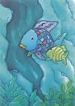 Prentbriefkaarten 10 ex., De mooiste vis bij de grot