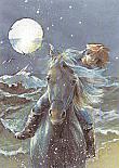 Prentbriefkaarten, Paard en meisje
