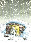 Prentbriefkaarten 10 ex., IJsbeer in iglo