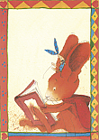 Prentbriefkaarten, Paultje boekenhaas