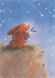 Prentbriefkaarten, Paultje - vallende ster