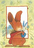 Prentbriefkaarten, Paultje met bloemen