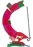 Prentbriefkaarten, Slangenmens